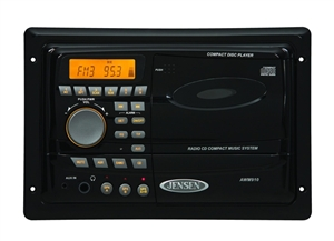 jensen awm910 am fm cd wallmount rv stereo. Black Bedroom Furniture Sets. Home Design Ideas