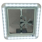 Heng's RV Chandelier LED Roof Vent Clear Trim Light - With Cool White Bulbs