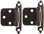 RV Designer Self-Closing Hinges, Antique Brass
