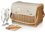 Picnic Time Kabrio Wine and Cheese Basket - Botanica Collection