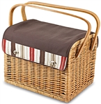 Picnic Time Kabrio Wine and Cheese Basket - Moka Collection