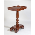 The Table Server 3F-05M Mahogany ChairSide End Table With Turned Leg