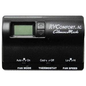 Coleman Mach 8330-3462 Digital Air Conditioner Thermostat, Single Stage, Cool Only, Black