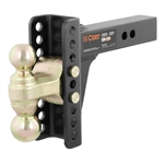 "CURT 45900  6"" Drop 5 1/4"" Rise Adjustable Channel-Style Mount"