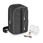 Picnic Time Tiburon Wine Tote - Black