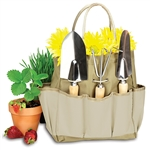 Picnic Time Large Garden Tote - Khaki with Beige