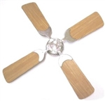 "LaSalle Bristol 12V 36"" RV Ceiling Fan Nickel With Cherry Blades"