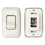 Diamond Group A-3101 Single White Contoured On/Off Switch