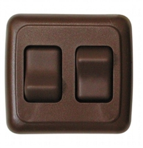 Valterra DG3218VP Double Contoured On/Off Switch - Brown