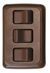 Diamond Group A-3318 Triple Brown Contoured On/Off Switch