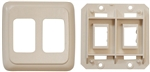 Diamond Group PB3258 Double Switch Plate Cover - Ivory
