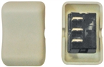 Diamond Group 2C-21 Contour Rocker SPDT On/On Switch - Biscuit