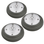 Rite Lite LPL623 Gray 5 LED Puck Light 3 Pack