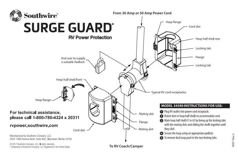 surge guard 44260 entry level rv portable surge protector
