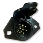 Pollak 11-723 7 Way Round Pin Car End Socket
