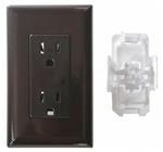 ODYSSEY GROUP WDR15BR Brown Receptacle