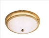 Low Profile Dome Light, Polished Brass