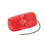 Bargman 32-003441 Dual Bulb Clearance Light - Red