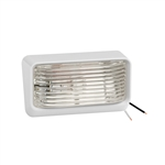 Bargman 31-78-531 White Porch Light With Clear Lens