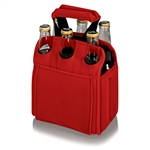 Picnic Time Six Pack Beverage Carrier - Red
