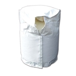 Adco 2111 Polar White LP Tank Cover, 20 lb. Single
