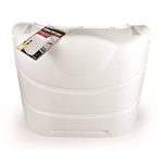 Camco 40542 Polar White Hard Propane Tank Cover, 30 lb