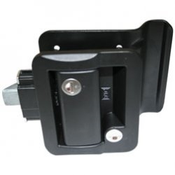 Wesco 43610-06-SP Travel Trailer Lock With Deadbolt - Black