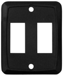 Valterra DG215PB Double Switch Wall Plate - Black - 3 Pack