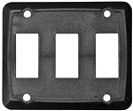 Valterra DG315VP Triple Switch Wall Plate Cover - Black