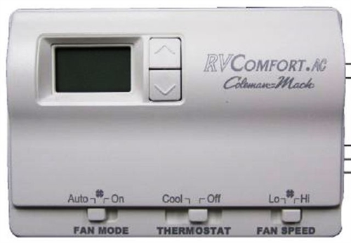 Coleman Mach 8330-3392 Digital Cool Only RV Air Conditioner Thermostat - 12V - White