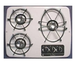 Atwood 56470 White 3 Burner Wedgewood Vision Drop-In Cooktop