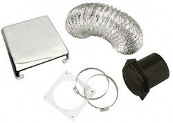 Splendide VID403AC Deluxe RV Dryer Vent Kit - Chrome