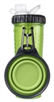 Dexas International PW450432383 Snack-DuO Pet Dish And Reusable Bottle - Green