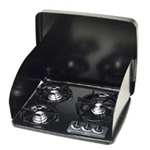 Atwood 56460 Black 3 Burner Drop-In Cooktop Cover