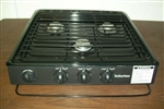 Suburban 3100A 3 Burner Slide-In RV Cooktop Stove - Piezo Ignition with Conventional Burners