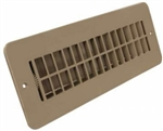 JR Products 288-86-AB-TN-A Tan Floor Register w/ damper