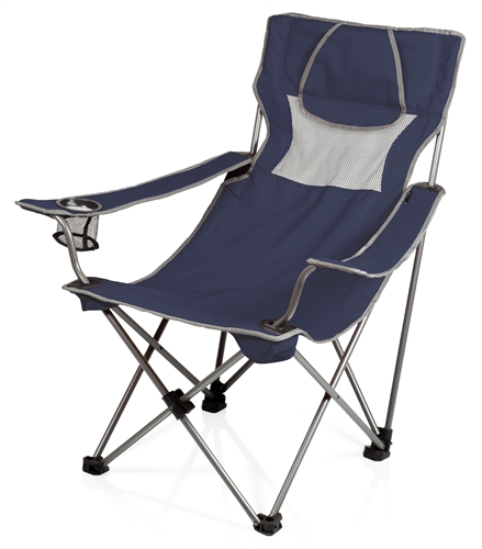Picnic Time Campsite Chair - Navy/Grey