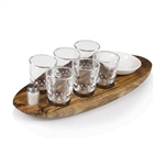 Picnic Time Cantinero Shot Glass Serving Tray - Acacia
