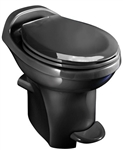 Thetford 34443 Black High Profile China Bowl Toilet With Water Saver