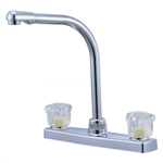 Relaqua AK-8201SH-1W High Spout Kitchen Faucet, White