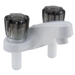 Utopia 20377RW21 Lavatory RV Faucet, White With Smoked Handles