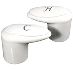 Phoenix 9-R35-9HC Replacement Catalina Faucet Handles, White