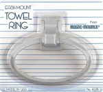 Magic Mounts 4578W Towel Ring, White