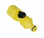 Camco 20103 RV Quick Hose Connect With Shutoff Valve - Plastic