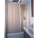 "Folding Shower Door, Ivory, 36"" X 57"""