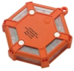 Aervoe 1146 Battery Operated Red LED Road Flare - Orange
