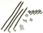 "Wheel Masters 8004 Stainless Steel 4 Valve Extender Kit 22.5"" Wheels Hub Mount"