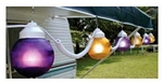 Polymer Products 16-60-01523 Globe String Lights- Purple & Yellow