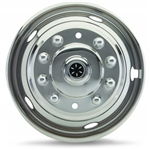 "Dicor V195P5 Versa-Liner, SS Wheel Cover Set 19.5"", 1977-Current, P30, 5 Lug Front/10 Lug Rear"