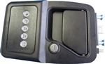 Bauer EM AlSentis Electric RV Keyless Door Lock - Left Hand